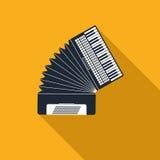 Accordion icon Stock Image