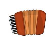 Accordion illustration Stock Photo