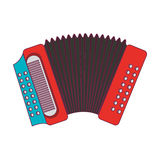 Accordion instrument musical icon Royalty Free Stock Photo