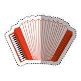 Accordion instrument musical icon Stock Photos