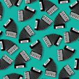 Accordion instrument seamless pattern. For your design Stock Photos