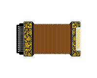 Accordion isolated. Russian National Folk Musical Instruments Royalty Free Stock Image