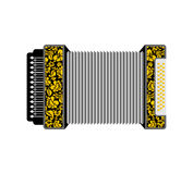 Accordion isolated. Russian National Folk Musical Instruments Stock Images