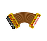 Accordion isolated. Russian National Folk Musical Instruments Royalty Free Stock Photography