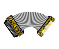 Accordion isolated. Russian National Folk Musical Instruments Royalty Free Stock Photos