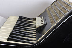 Accordion keyboard and registers Royalty Free Stock Images