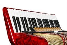Accordion, keyboards, fragment Stock Photos
