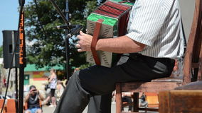 Accordion melody man Royalty Free Stock Photo