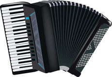 Accordion musical instrument Stock Image