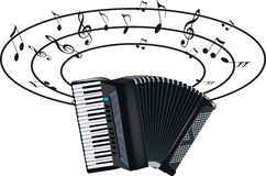 Accordion musical instrument Royalty Free Stock Photos