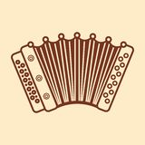Accordion. Musical instrument for kid. Baby toy. Stock Photography