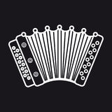 Accordion. Musical instrument for kid. Baby toy Stock Images