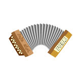 Accordion. Musical instrument  white background. Vector illustra Royalty Free Stock Image