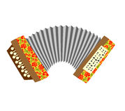 Accordion. Musical instrument  white background. Stock Image