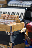 Accordion musical instruments Stock Image