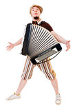 Accordion musician Stock Images