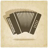 Accordion old background Stock Images