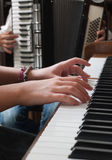 Accordion and piano Royalty Free Stock Images