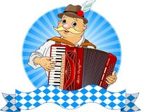 Accordion Player Royalty Free Stock Images