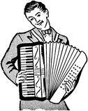 Accordion Player Royalty Free Stock Image