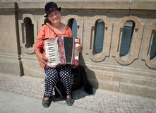 Accordion Player, Berlin, Germany Royalty Free Stock Images