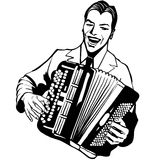 Accordion player Royalty Free Stock Photos