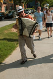 Accordion Player Leads Spectators To Ballet Performance On Atlanta Beltline Stock Images