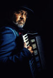 Accordion Player Portrait royalty free stock images