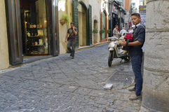 Accordion Player, Salerno Italy Stock Photos