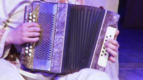 Accordion stock video footage