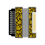 Accordion . Russian National Folk Musical Instruments Royalty Free Stock Photography