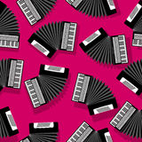 Accordion seamless pattern. Accordion instrument seamless pattern for your design Stock Photo