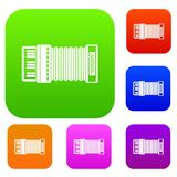Accordion set collection Royalty Free Stock Photography