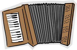 Accordion Sketch Royalty Free Stock Photos