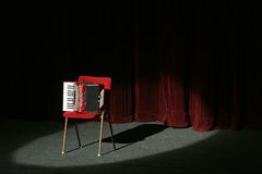 Accordion on stage Royalty Free Stock Photo