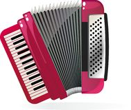 Accordion in vector Royalty Free Stock Photo