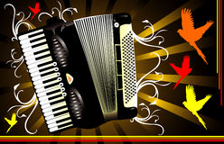 Accordion vector composition Stock Image