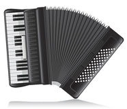 Accordion vector illustration Royalty Free Stock Photography