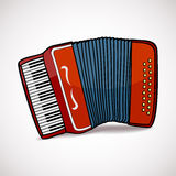Accordion vector illustration. On white background Royalty Free Stock Photo