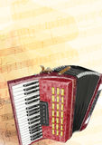 Accordion. Watercolor imitation. Stock Image