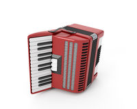 Accordion on a white. Background. 3d render image Royalty Free Stock Photos