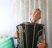 Accordionist Royalty Free Stock Photo