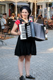 Accordionist Royalty Free Stock Image