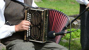 Accordionist folk music stock video footage