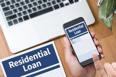 Accordo di acquisto residenziale di prestito al lo vivente di ipoteca della proprietà Immagine Stock Libera da Diritti
