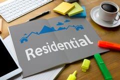 Accordo di acquisto residenziale di prestito della proprietà alla proprietà vivente Mo Immagine Stock Libera da Diritti