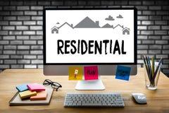 Accordo di acquisto residenziale di prestito della proprietà alla proprietà vivente Mo Fotografia Stock Libera da Diritti