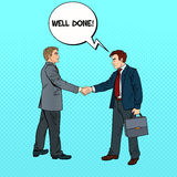Accordo di Art Businessmen Shaking Hands Business di schiocco Immagine Stock