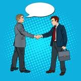 Accordo di Art Businessmen Shaking Hands Business di schiocco Fotografia Stock Libera da Diritti