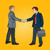 Accordo di Art Businessmen Shaking Hands Business di schiocco Immagini Stock